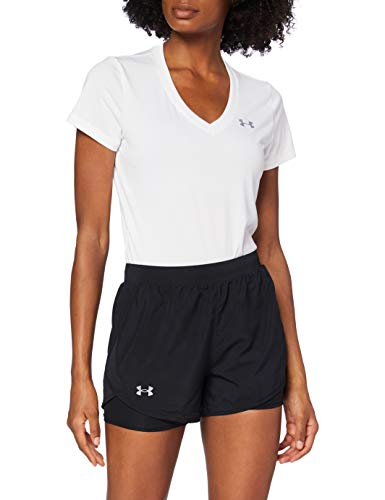 Under Armour Fly by 2.0 2N1 Short Pantalones Cortos, Mujer, Negro/Negro/Reflectante (001), MD