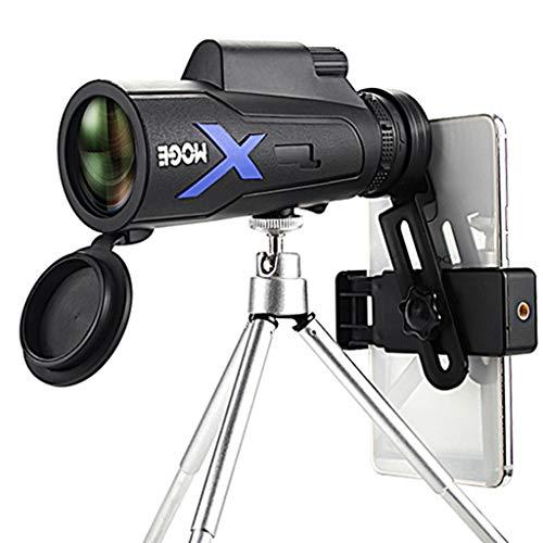 JIACUO 50x60 Potente telescopio monocular de visión Nocturna de Mano para Caza, Senderismo, Acampada, Turismo