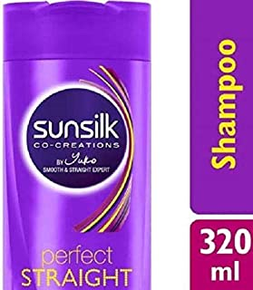 SUNSILK Perfect Straight Shampoo 320 ml-Formulated with Silk Proteins which Keep Hair Straight as it Dries