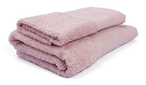 Ago.fil S.r.l. Handtuch-Set (1+1) zum Sticken, 100 {e709ab7657df736f31afa2b22a067eb0168467f78420dc613c7d467e9489511e} Baumwolle, rosa, 60 x 105 – 40 x 60, 2 Stück