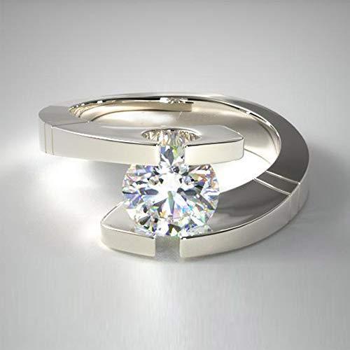 Verlobungsring aus massivem 950 Platin mit Punze 1,00 Karat Diamant Rundschliff Größe K L O P M N J H I