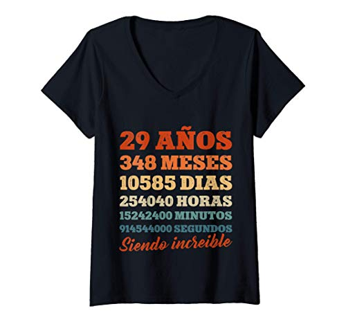 Mujer 29 Cumpleaños Regalo Años Divertido Decoración Vintage 1992 Camiseta Cuello V