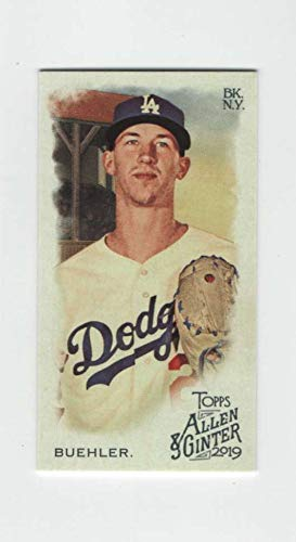 2019 Topps Allen and Ginter Base MINI #33 Walker Buehler Los Angeles Dodgers Official MLB Baseball Trading Card (very small size)
