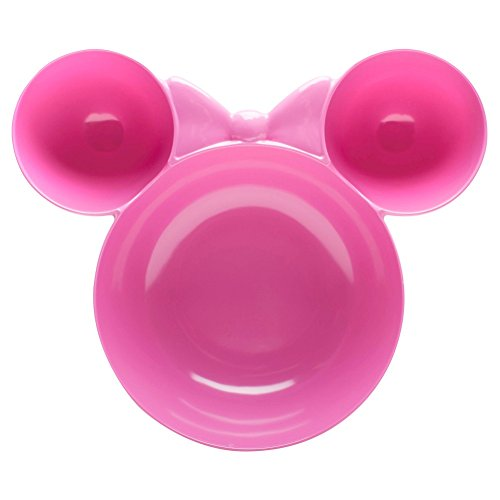 Disney Minnie Mouse tamaño grande Chip y Dip Bowl–rosa melamina–12'X 3'