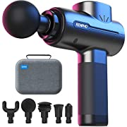 RENPHO Massage Gun, Portable Massage Gun Deep Tissue Handheld Percussion Muscle Massager for Home Gym Office Post-Workout Recovery Pain Soreness Relief