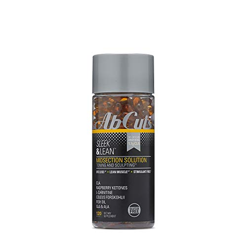AbCuts Sleek and Lean - 120 Easy-to-Swallow Softgels - CLA Supplement, Fish Oil, Flaxseed Oil, L-Carnitine - Helps Increase Antioxidant Supply