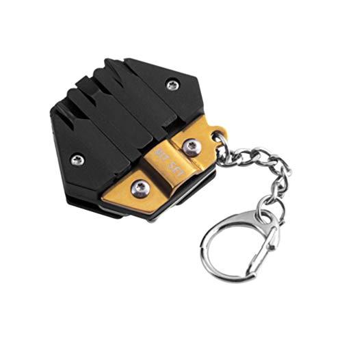 ULTECHNOVO Edelstahl Multi-Tools Set Micro Pocket Multitool für Camping im Freien Hardware Golden