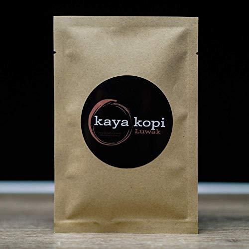 Premium Kaya Kopi Luwak From Indonesia Wild Palm Civets Arabica Coffee Beans, 16 Ounce (Medium Roast, Whole Bean)
