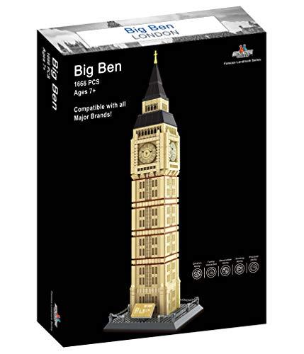 Apostrophe Games Juego de Bloques de Construcción Big Ben - 1,666 Piezas