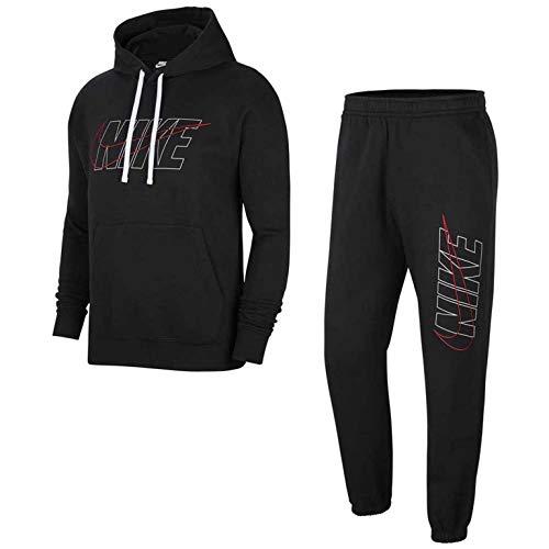 Nike Herren Sportswear Club Trainingsanzug Schwarz XS