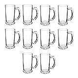 Beer Stein Mugs 16 oz - 10 pack - Beer Pint Glass Mug - Perfect Glasses for Beers, Root Be...