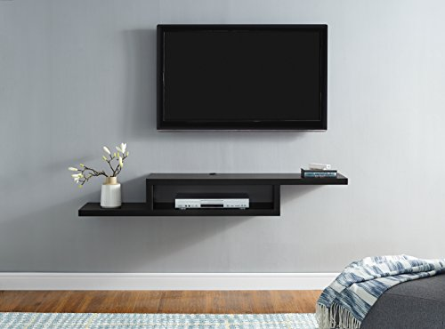 Martin Furniture 60' Asymmetrical Wall Mounted A/V Console, 60inch, Black