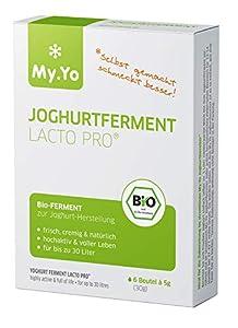My.Yo - Bio Joghurtferment Lacto Pro | 6x5 gr | Ferment für bis zu 30 L selbst gemachten Joghurt