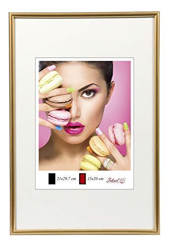 Photo Style Bilderrahmen in 20x30 cm bis 50x70 cm DIN Format Bilder Foto Rahmen: Farbe: Gold | Format: 20x30
