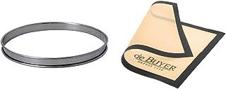 DE BUYER -3093.28 -cercle a tarte inox perfore ht2 ø28 cm & 4938.40 Tapis Airmat Siliconé Aéré 40 x 30 cm