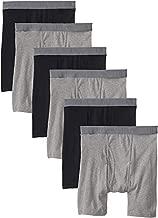 BVD Men's Underwear & Undershirts, Boxer Brief - Black/Grey, X-Large