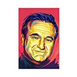 Robin Williams Schauspieler-Leinwand-Poster, Wandkunst,