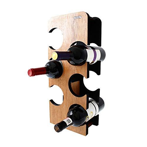 G4 Cava de vinos Madera para 6 Botellas. (Torre Contempo). Porta Botellas. Marca REGISTRADA. Color Caoba