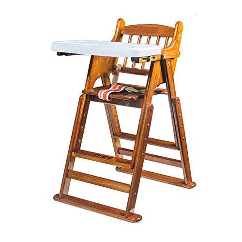 ZCFXGHH Effen Hout Kinderstoel, Baby Opvouwbare Eettafel, Multifunctionele Kindereettafel, Draagbare Baby Hoge Stoel
