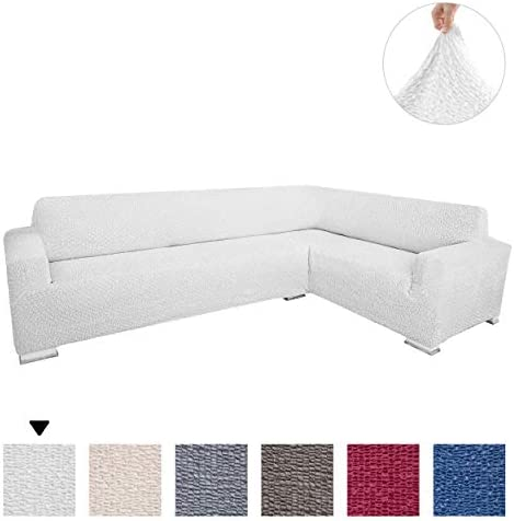 Best Sectional Sofa Cover - Corner Couch Cover - Corner Slipcover - Soft Polyester Fabric Slipcovers - 1-