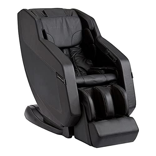 Sharper Image Relieve 3D Zero Gravity Massage Chair with Heat Kneading Calf Reflexology Rollers Bluetooth Speakers APP Black