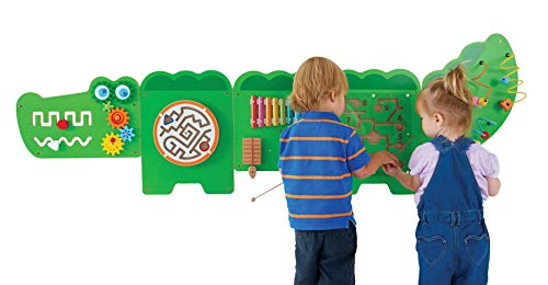 LEARNING ADVANTAGE - 50346 Crocodile Activity Wall Panels - 18M+ - in Home Learning Activity Center - Wall-Mounted Toy for Kids - Toddler Decor for Play Areas