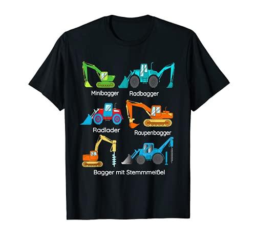 Excavadora, máquinas agrícolas, cortacéspedes, vehículos de construcción, jóvenes. Camiseta