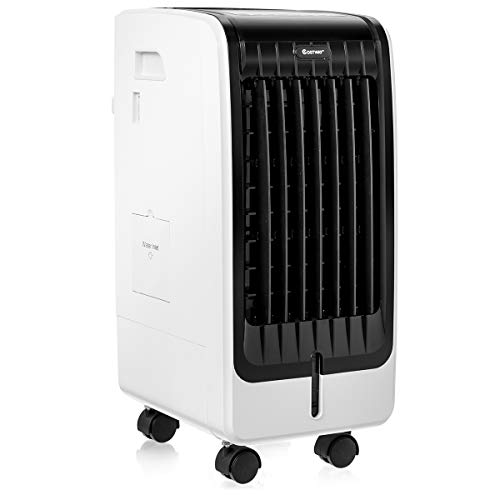 DREAMADE Condizionatore a Evaporazione 3 in 1 con Ventilatore e Umidificatore, Condizionatore Climatizzatore Portatile, con 3 Velocità,con Telecomando,Serbatoio Acqua 6L,75W