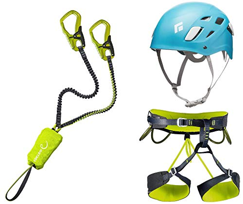 Klettersteigset Edelrid Cable Kit 5.0 + Klettergurt Camp Größe L + Helm Black Diamond Half Dome Women 50-58cm Caspian