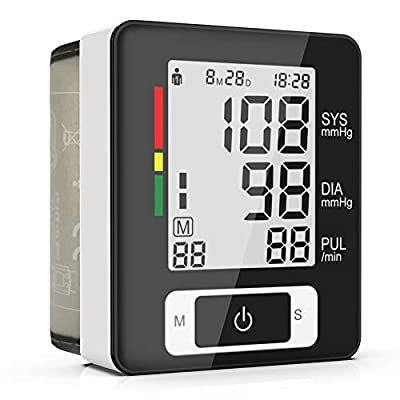 Digital Wrist Blood Pressure Monitor, Automatic Blood Pressure Cuff - 90 Readings Memory Function, Large Screen with Clinically Accurate and Fast Reading - FDA Approved