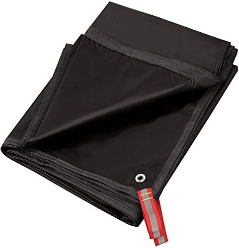 テントシート キャンプシート ピクニック 防水 断熱 レジャーシート グランドシート 両面防水 紫外線カット 軽量 収納バッグ付き アウトドア 登山 BBQ(ブラック)