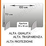 Parafiato plexiglass 120 x 70 CM Barriera di protezione 5mm schermo...