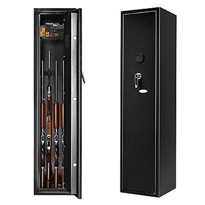 Rifle Safe Large Electronic Gun Safe, INVIE Quick Access Shotgun Security Storage Cabinet with Handgun/Ammo Lockbox