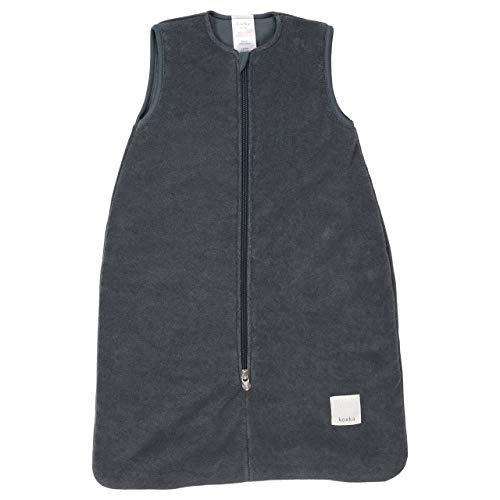 Koeka - Baby Schlafsack - Ohne Ärmel - Ganzjahres Schalfsack - Für Jungen Und Mädchen - Royan - Stretch Frottee - Waschbar - Dunkelgrau - 80 Cm