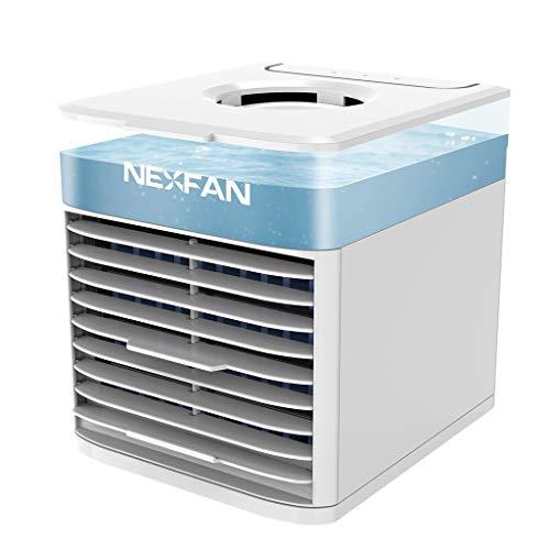 最新改良版 NexFan Ultra 冷風機 扇風機 冷却ファン 卓上冷風扇 ポータブル 3風量段階USB充電式 オフィス ...