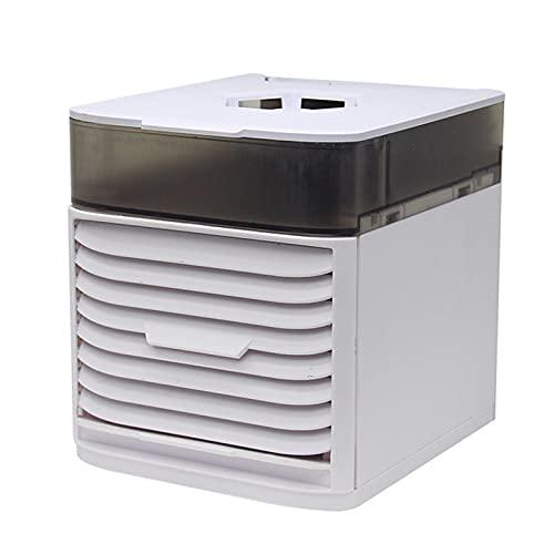 Domybest - Climatizador portátil silencioso con ventilador de aire acondicionado USB Mini enfriador de aire por evaporación de 3 velocidades AC100-120V para casa, oficina