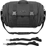 Saddlemen TR2300DE Tactical Deluxe Sissy Bar Street Motorcycle Tail Bags - Black/One Size