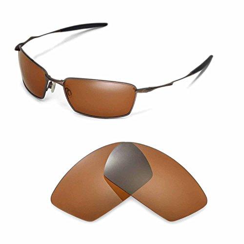 Walleva Ersatzgläser für Oakley Square Whisker Sonnenbrille - Mehrfache Optionen (Braun - polarisiert)