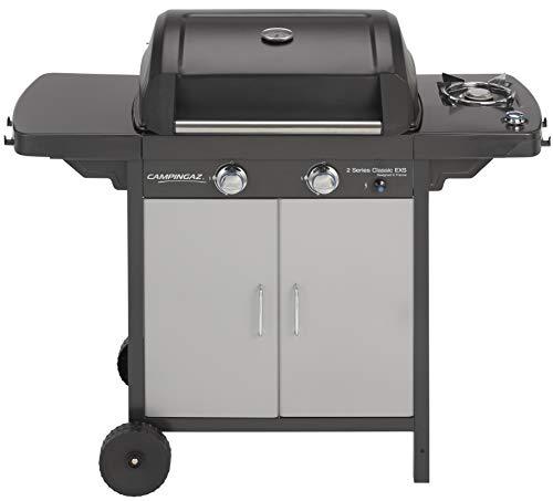 Campingaz 2 Series Classic EXS Gasgrill, BBQ Grillwagen aus Stahl, mit 3 Edelstahlbrennern, Standgrill mit Deckel und Thermometer