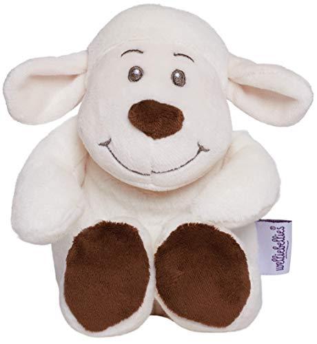 welliebellies Midi Wärmekuscheltier für Kinder - Wärmekissen gegen Schmerzen und zum Wohlfühlen - Wohltuender Kräuterduft durch Rosmarin und Lavendel, Eukalyptus & Pfefferminz - Lamm