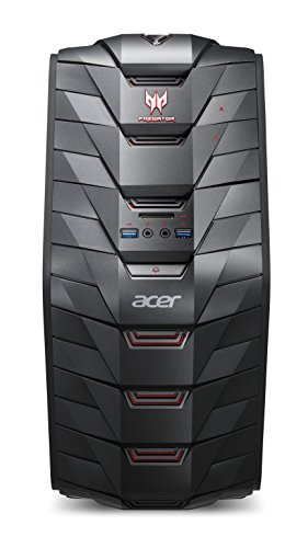 Acer predatore G3-710 Desktop-PC(Intel Core i7 6700, 8 GB RAM, 2 TB HDD, 8 GB SSD, Geforce GTX 970, DVD, Win 10 Home) Nero