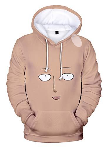 AMOMA Herren Damen Unisex Anime One Punch Man Hoodie Comics Manga Saitama 3D Digitaldruck Kapuzenpullover Sweatshirt(L,Color03)