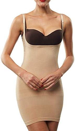 Franato Women s Shapewear Dress Control Slip Full Body Shaper Open Bust Nude XL product image
