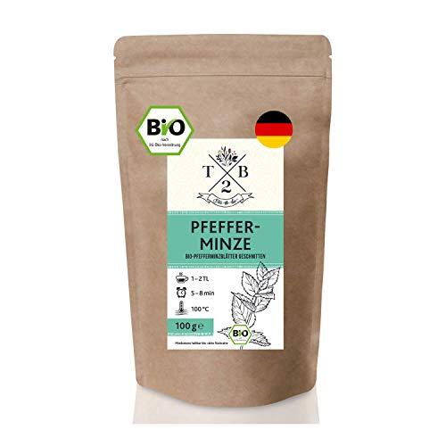 Pfefferminztee BIO-Tee geschnitten in Bio-Qualität mit loser Pfefferminze (Minze, Pepermint, Mentha...