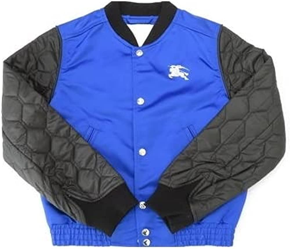 BURBERRY Boys Contrast-Sleeve Nylon Bomber Jacket, Brand Size 3Y Youths/Junior