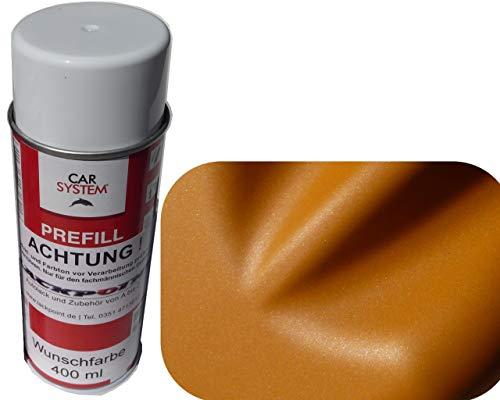Spraydose 400ml 1K Autolack Brillant Orange Metallic Matt Kein Klarlack Tuning