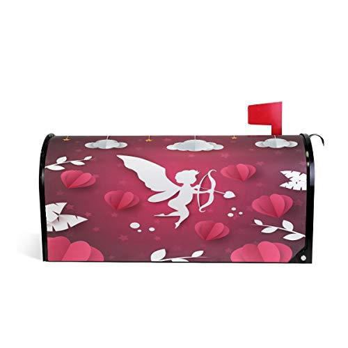 Wamika Valentine Cupidon Angel Cœur magnétique pour boîte aux Lettres Rouge Rose Blanc Taille Standard 52.6x45.8cm Multicolore