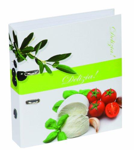 Pagna 50354-15 Rezeptordner A4 Olive/Tomate, 75mm Rückenbreite Motivdruck laminiert