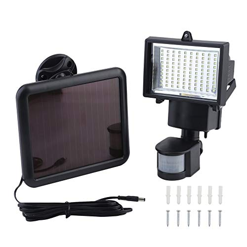 Bubbry 100 LEDs Solar Power Security PIR infrarood bewegingsmelder licht nachtlamp