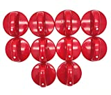 XMHF 10pcs Kitchen Cooktop Round Shape Rotary Switch Knob Red Plastic Gas Range/Stove/Oven Control Knob
